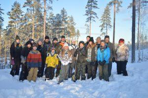 Talvimajoitusretki Vesajärvellä 19.-20.1.2019