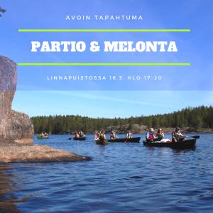 Avoin partio- ja melontatapahtuma Linnan puistossa 16.5.2019